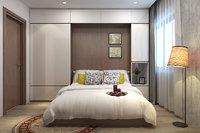 3D apartment bedroom model