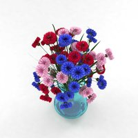cornflower colorful 3D model