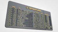 departure information board 3D model
