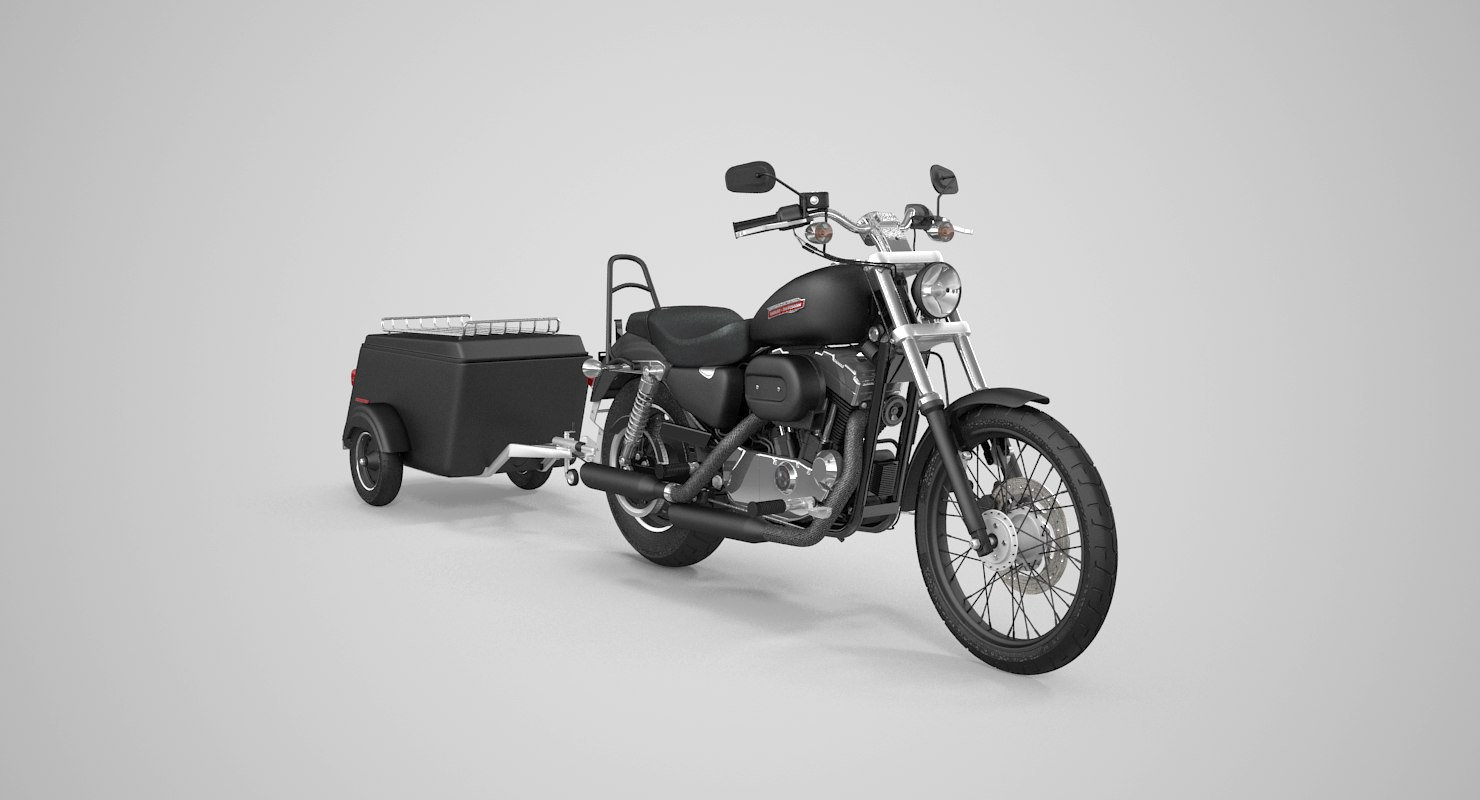 3D motorcycle trailer