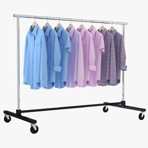 shirt clothing rack model