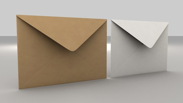 envelope size c5 3D model