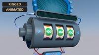 3D jackpot slot machine