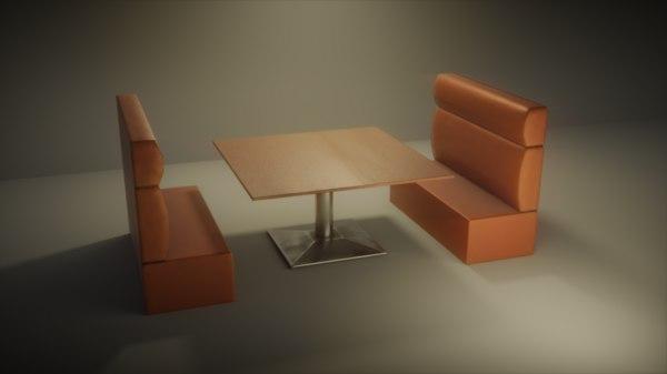 bistro table 3D model