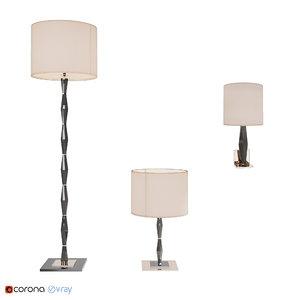 3D set officina luce model