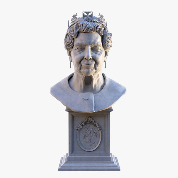 queen elizabeth bust model