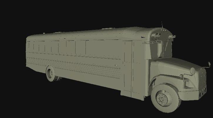 3D model thomas fs-65 school bus