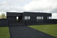 3D model modern slate house