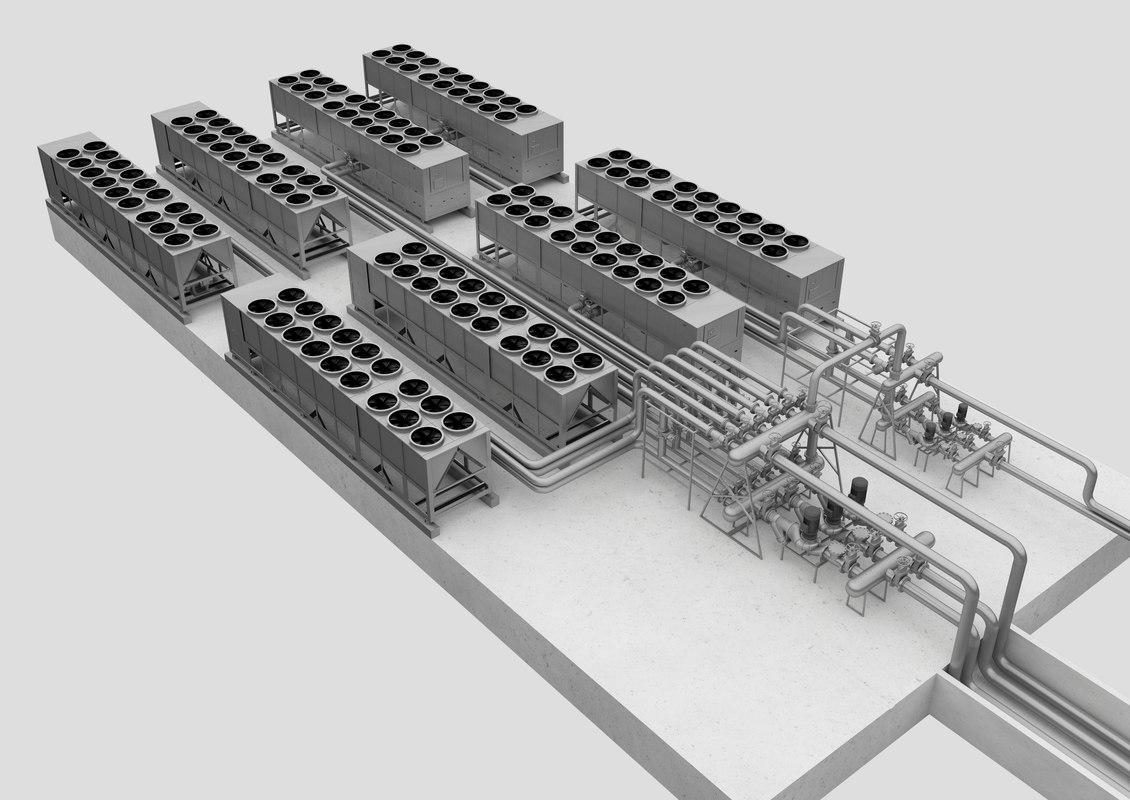 condenser cooling 3D model