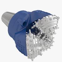 3D tricone drill bit model