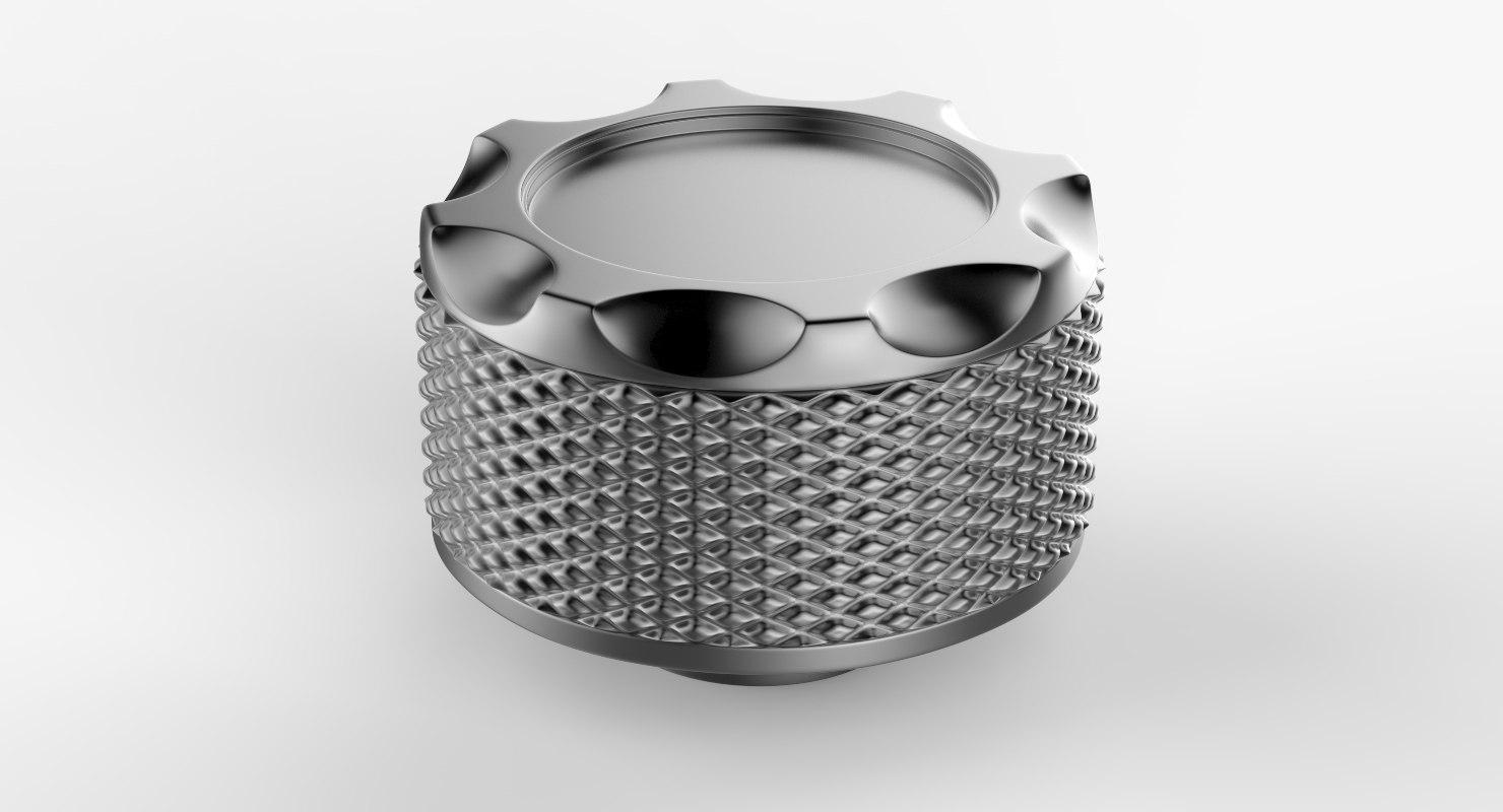 knob button v7 3D model