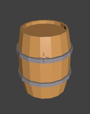 3D barrel low-poly model