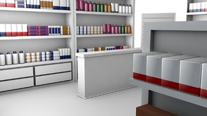 3D model drug store