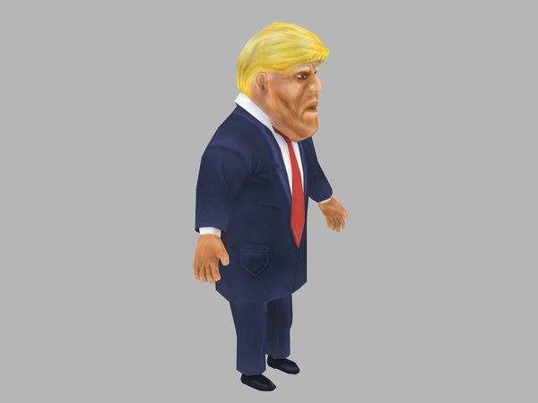 3D american donald trump