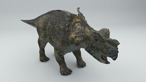 achelousaurus dinosaur rigged 3D model