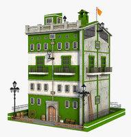 fantasy building green 3D model