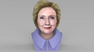 3D hillary clinton bust ready