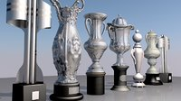 trophy set 3D model