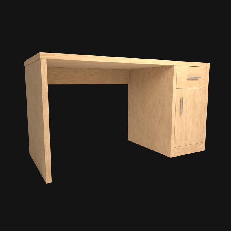 3D desk office model