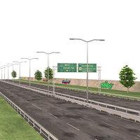 highway way 3D model