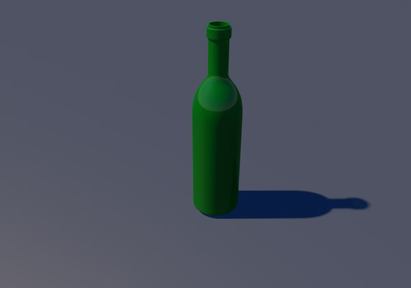 bottle bordeaux type 3D