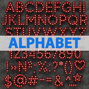 3D marquee alphabet light model