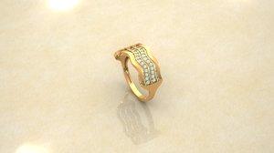 3D ring wedding model
