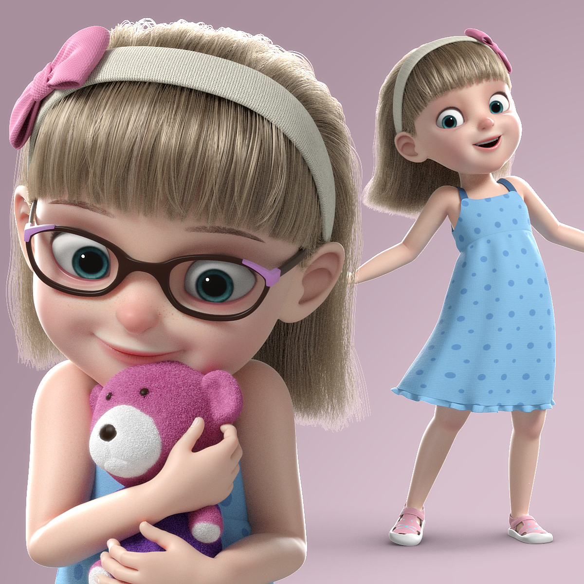 girl child 3d model turbosquid