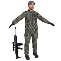 3D hunter rifle