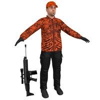 hunter rifle 2 3D model