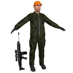3D model hunter 3