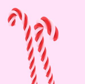 candy twisted 3D model