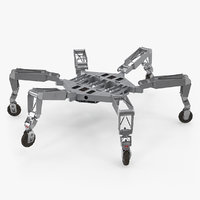 legged robotic lunar rover 3D model