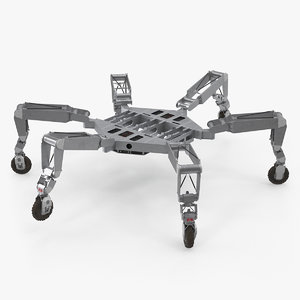 legged robotic lunar rover 3D model