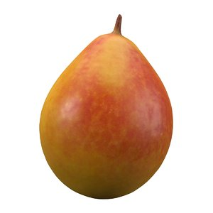 3D model realistic yellow pear 2