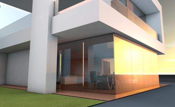 3D minimalist house