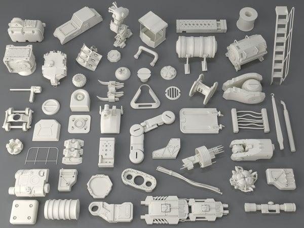kit bashes - 54 3D model