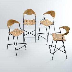 bar stools arthur umanoff 3D model