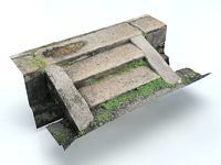 3D stairs photogrammetry realistic model