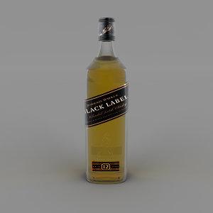 black label bottle 3D