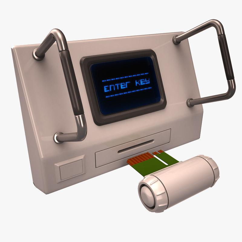 digital key 3D model