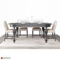 3D table dining set model