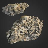 3D scanned rock cliff r2 model