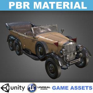pbr realistic mercedes-benz w31 3D