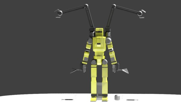 mech construction 3D model