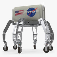 3D model nasa athlete lunar rover