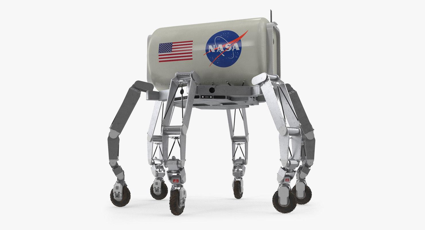 3D model nasa athlete lunar rover