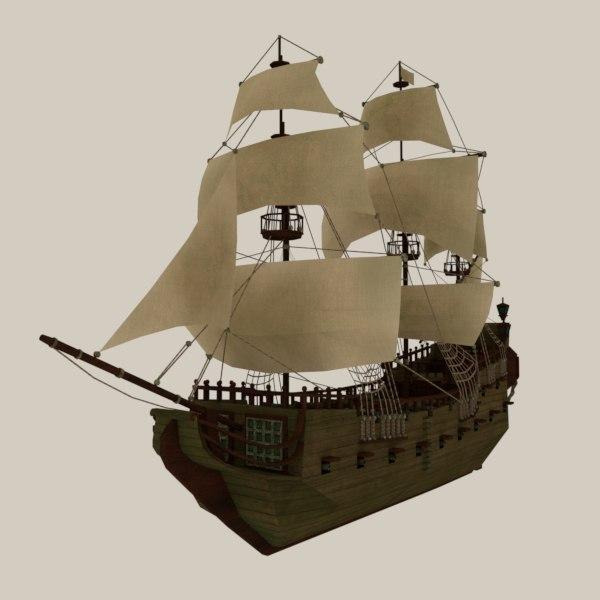 historic pirate ship model