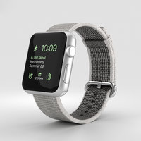 3D apple watch silver