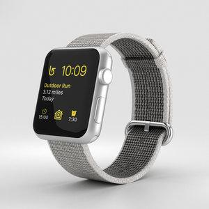 3D apple watch silver model